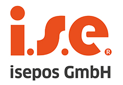 Das Logo der isepos GmbH in orange vor weißem Hintergrund