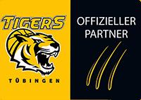 Offizieller Partner Tigers Tuebingen in schwarz und gelb