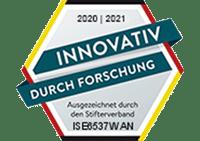Das Logo von innovativ durch Forschung vor transparentem Hintergrund